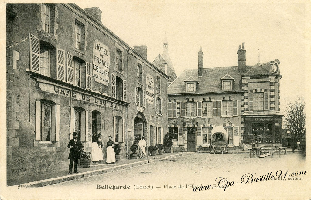 Bellegarde place de l h tel de france maison robillard for Carte de france hotel