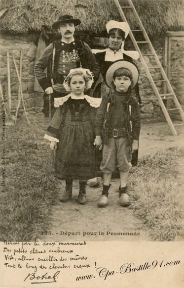 La famille Botrel - Départ pour la promenade