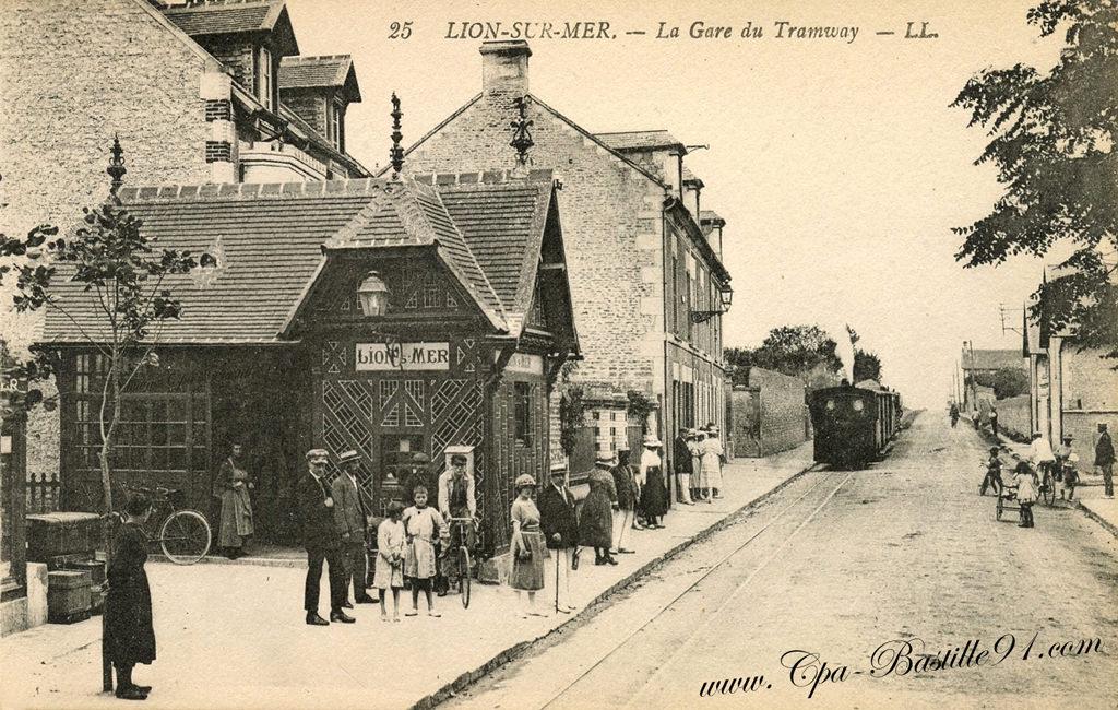 lion sur mer la gare du tramway la belle poque cartes postales anciennes. Black Bedroom Furniture Sets. Home Design Ideas