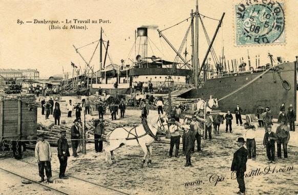 Dunkerque-le-travail-au-port-Bois-de-Mines