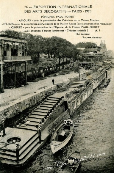 Exposition-des-arts-decoratifs-Paris1925-Péniches-Paul-Poiret