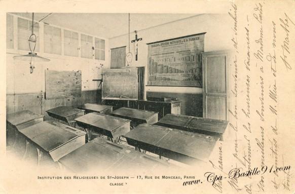 Une Classe à Institution des Religieuses de St-Joseph - 17 rue de Monceau - Paris