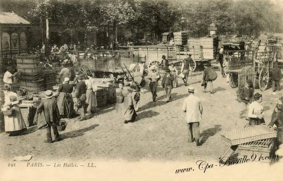Carte Postale Ancienne - Paris - Les Halles