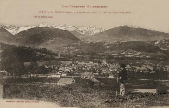 St Gironnais-panorama d'oust et le Montvallier