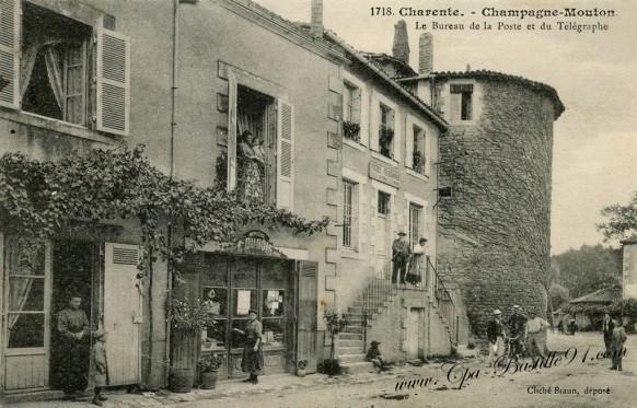 charente-Champagne-Mouton-Le-Bureau-de-la-poste-et-du-telegraphe