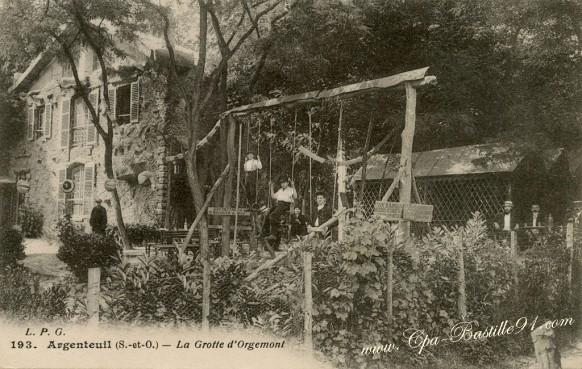 Cartes-postales-Anciennes-Argenteuil-La-Grotte-dOrgemont