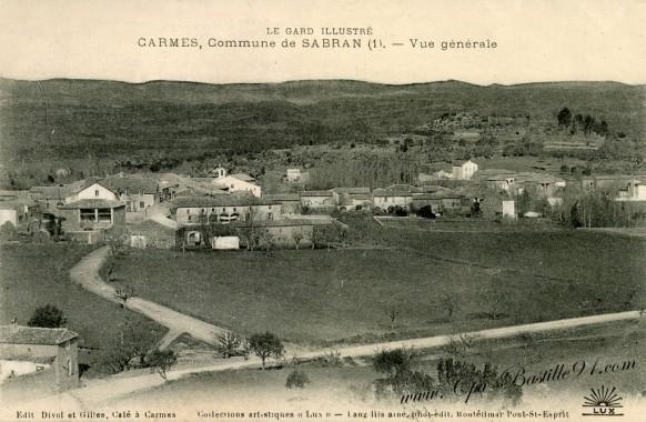 Le Gard Illustré - Carmes - Commune de Sabran - Vue générale