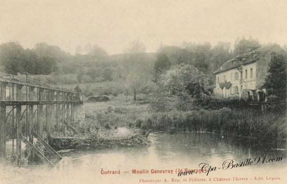 Carte-postale-Ancienne-Guérard-Moulin-Genevray-Le-Barrage