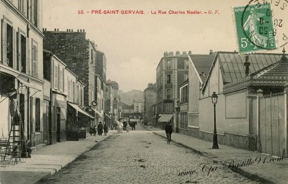 Carte-postale-Ancienne-Pré-saint-Gervais-La-rue-charles-Nodier