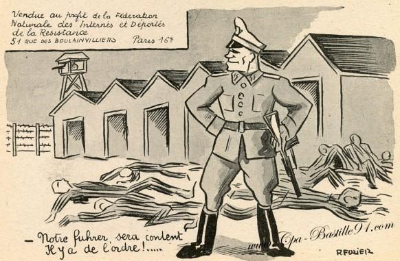 Carte-postale-Ancienne - Notre Fuhrer sera content - Il y a de l'Ordre - Illustrateur R-Fuzier