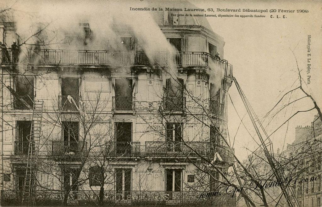 Paris incendie de la maison laurette 63 boulevard s bastopol le 20 f vrier 1904 cartes for Photos maisons anciennes