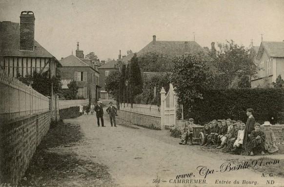 carte postale Ancienne - Cambremer-Entrée-du-Bourg