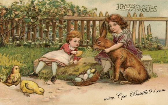 Carte postale Ancienne - Joyeuses Pâques 2015