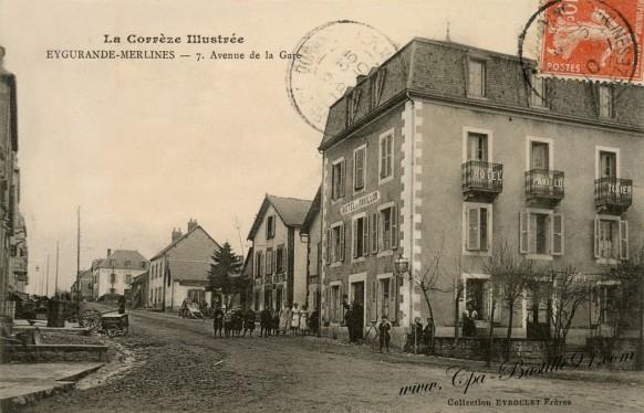La-Corrèze-Illustrée-Eygurande-Merlines-Avenue-de-la-Gare