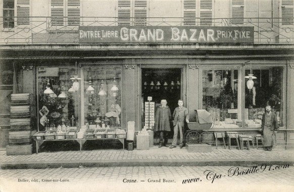 Cosne sur Loire  - Grand-Bazar - Entrée libre prix fixe
