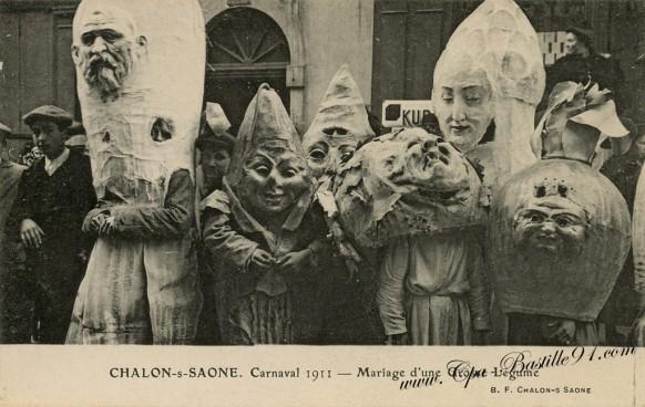 Chalon-sur-saone-Carnaval-1911-Mariage-dune-Grosse-légume