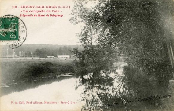 Juvisy-sur-Orge - La Conquête de l'air - Préparatifs de départ de Delagrange