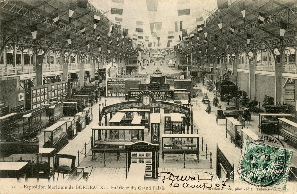 Exposition maritime de bordeaux en 1907 interieur du grand palais cartes postales anciennes - Expo le grand palais ...