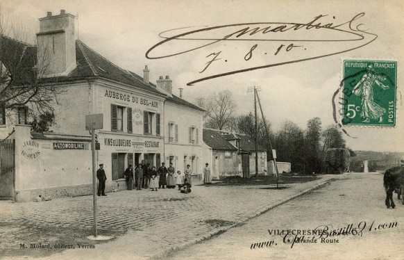 Carte-postale-Ancienne-Villecresne-La-grande-Route
