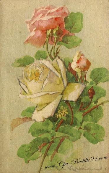 Aquarelle - Un bouquet de roses de Catharina Klein