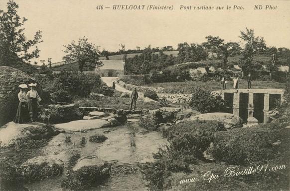 Huelgoat - Pont rustique sur le Fao - La Rivière d'Argent