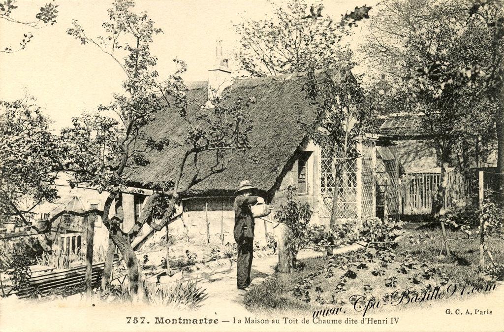 Montmartre cartes postales anciennes page 2 - Maison en toit de chaume ...