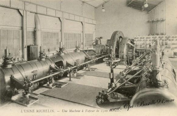 L'Usine Michelin à Clermont ferrand - Une-Machine à vapeur