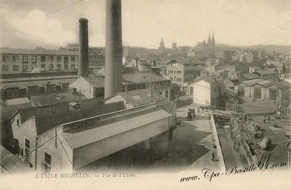 Carte Postale Ancienne-Usine Michelin-l'usine