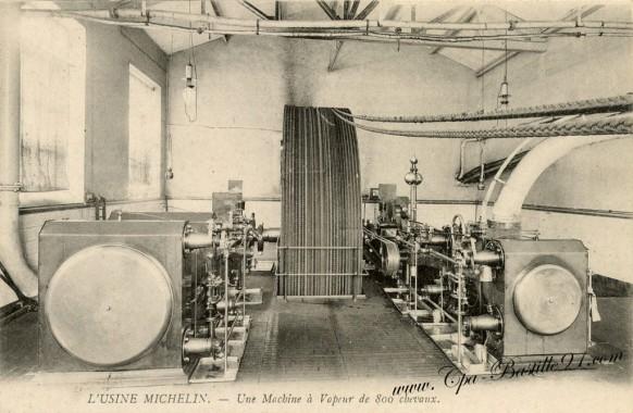 l'Usine Michelin - une machine à vapeur