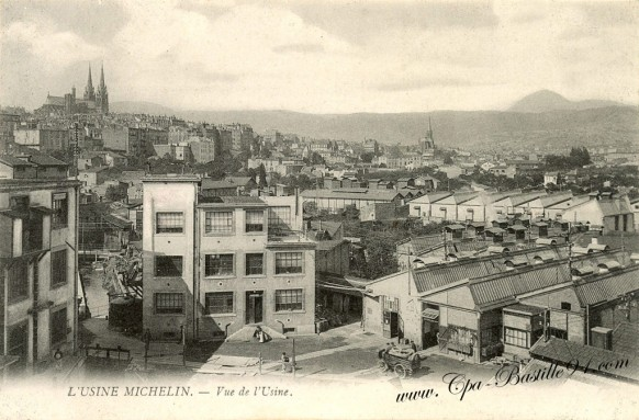 Carte postale Ancienne-Usine Michelin-vue de l'usine