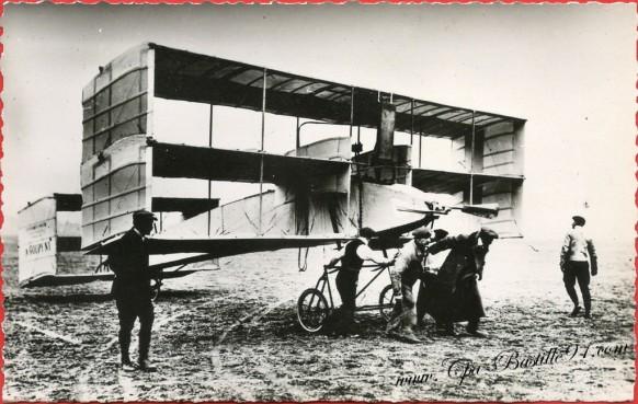 l'Histoire de l'Aviation en 1909 Le Triplan Goupy