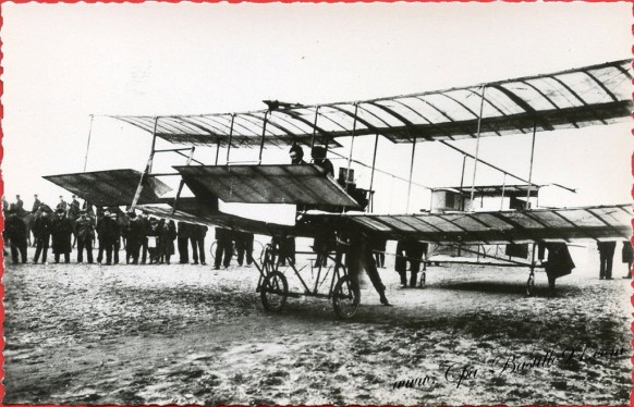 Histoire de l'aviation - Le 28 Mars 1908 - Premier vol avec passagers Delagrange emmène Henri Farman