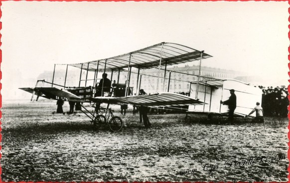 l'histoire de l'aviation - l'aéroplane delagrange modifié à Issy