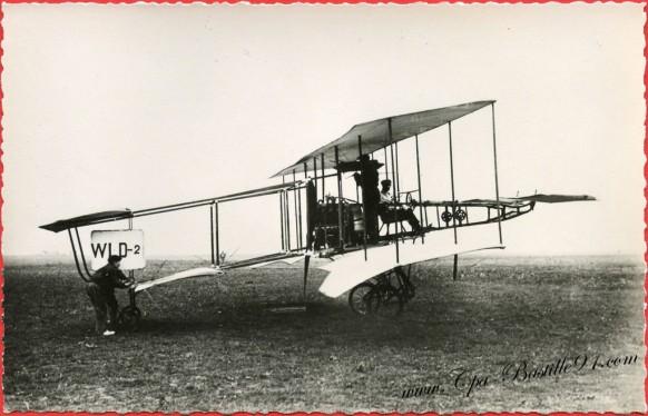 Histoire de l'Aviation - 1909 à Juvisy - l'Aviateur Guillaume Busson sur WLD2
