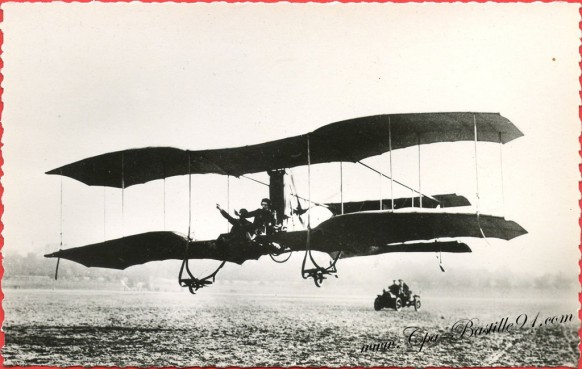 l'Histoire de l'Aviation - En1909 - Le-Biplan Odier Vendome