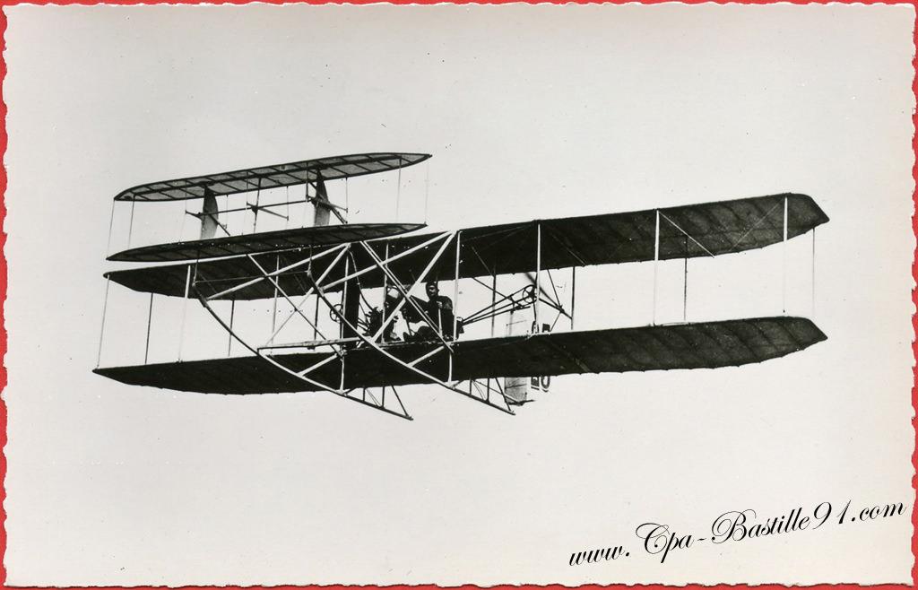 histoire de l aviation 1909 l a roplane wright d eug ne lefebvre cartes postales anciennes. Black Bedroom Furniture Sets. Home Design Ideas