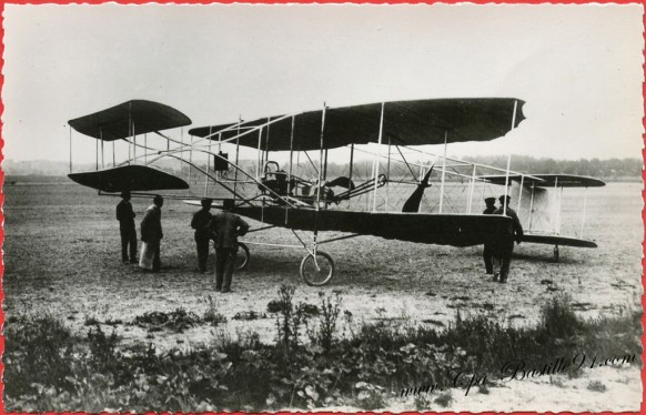 Histoire de l'aviation - En 1909 le Biplan Sanchis