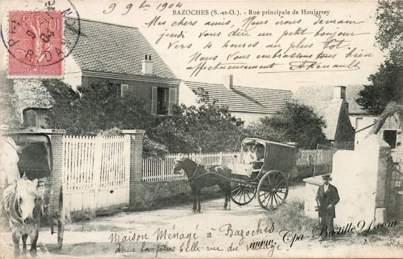 Bazoches-sur-Guyonne - Rue principale de Houjarrey dans les années 1900