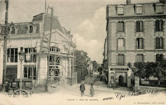 Carte Postale Ancienne de Juvisy sur Orge - La rue de Draveil