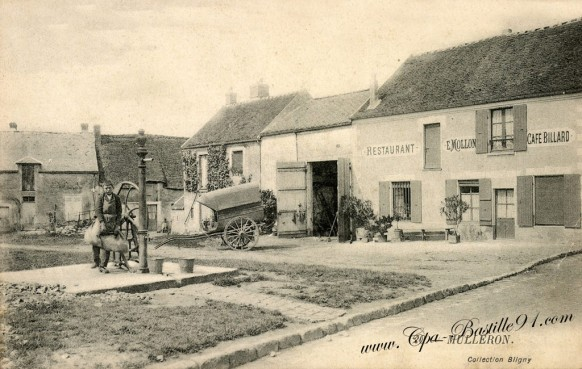 carte-postale-Ancienne-Mulleron-restaurant-billard