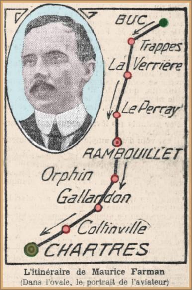Parcours-de-Buc-à-Chartres-effectué-par-Maurice-Farman-le-9-décembre-1909