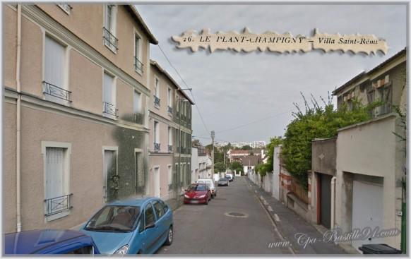 Le-Plant-Champigny-sur-Marne- Villa Saint Rémy- d'Hier à Aujourd'hui.