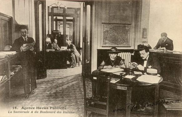Carte Postale Ancienne - Agence Havas Publicité Succursale du boulevard des Italiens