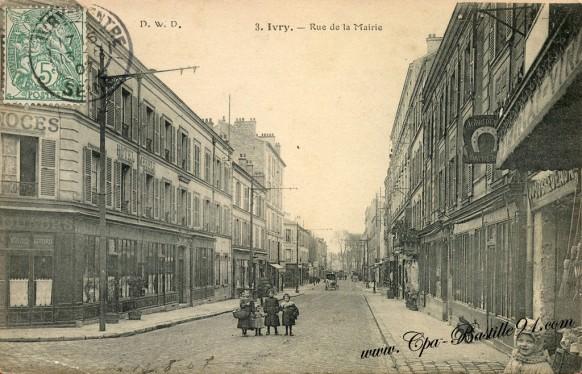 Carte Postale Ancienne -Ivry sur Seine - Rue de la Mairie