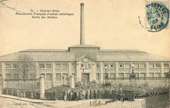 Ivry-sur-Seine - Manufacture Française d'oeillets métalliques - Sortie des Ateliers