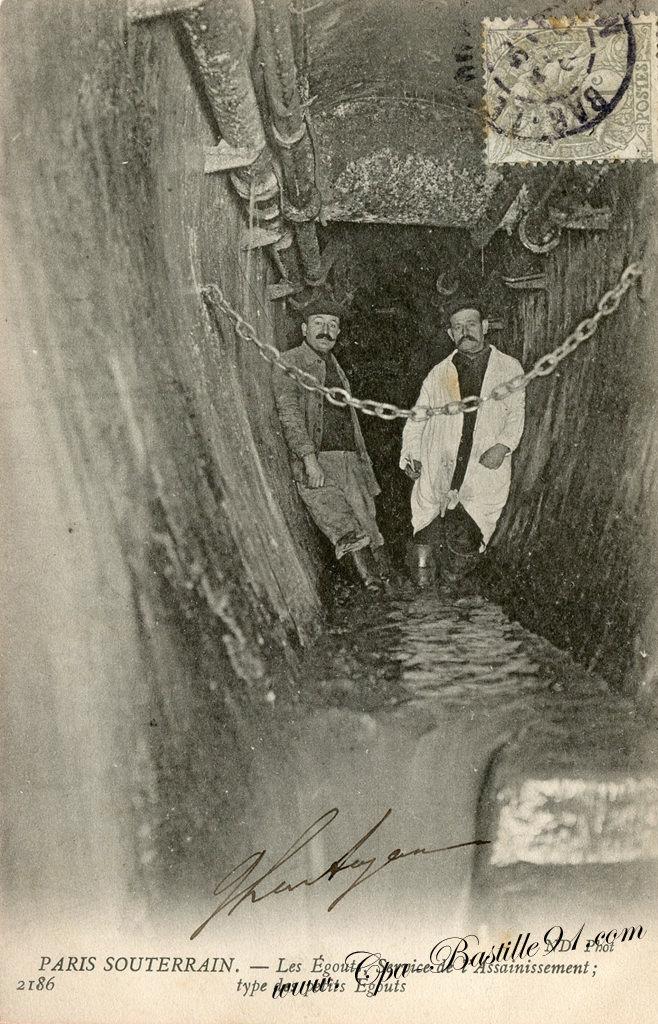 Carte Postale Ancienne - Les égouts de Paris en 1900 - Service de l'assainissement   Cartes ...