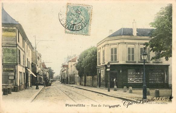 Carte Postale Ancienne de Pierrefitte sur Seine - La Rue de Paris