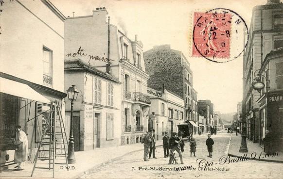 Carte Postale Ancienne - Pré-St-Gervais - Rue Charles Nodier