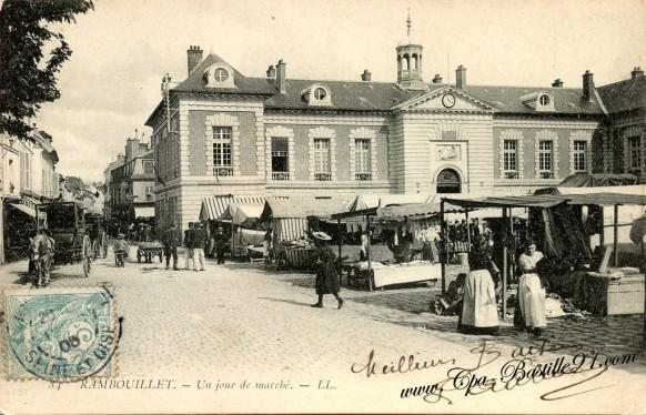 Carte Postale Ancienne - Rambouillet - Un Jour de Marché