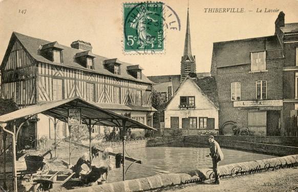 Carte Postale Ancienne - Thiberville Le Lavoir